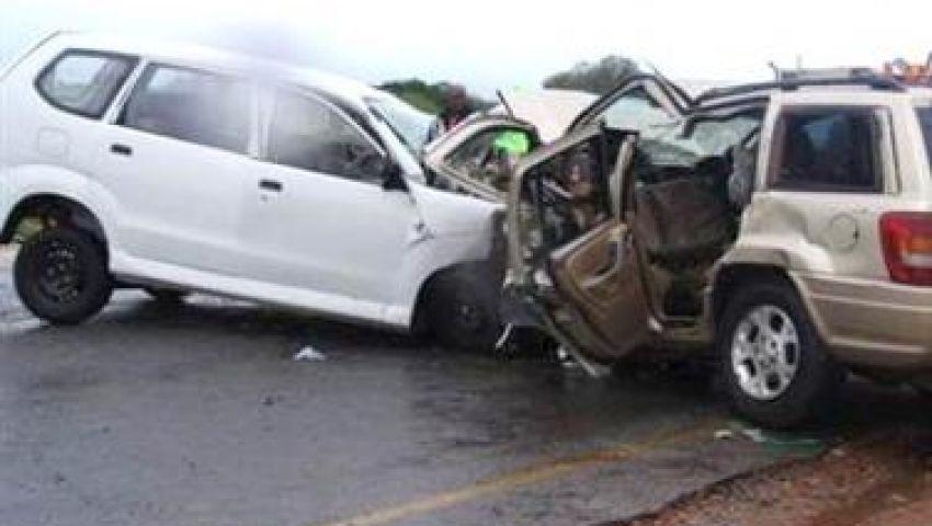 إصابة 4 أشخاص في حادث تصادم بالمنوفية