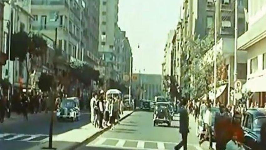 بالفيديو.. جمال القاهرة سنة 56 بـالألوان