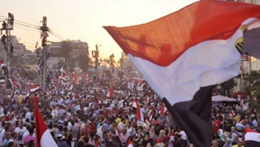 شلل مروري بميدان المطرية مع بدء تجمع مسيرة الاتحادية