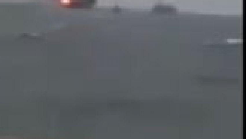 فيديو.. حريق هائل في منصة نفط ببحر قزوين