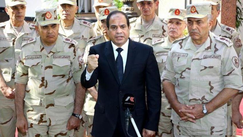 السيسي يكلف الجيش مشاركة الشرطة تأمين المنشآت الحيوية