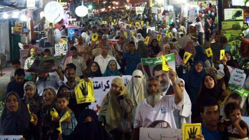 مسيرات ليلية لمؤيدي مرسي في الواسطي وبني سويف
