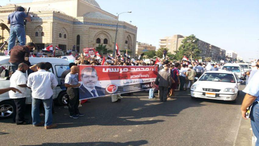 مظاهرات لمؤيدي ومعارضي مرسي في 6 أكتوبر