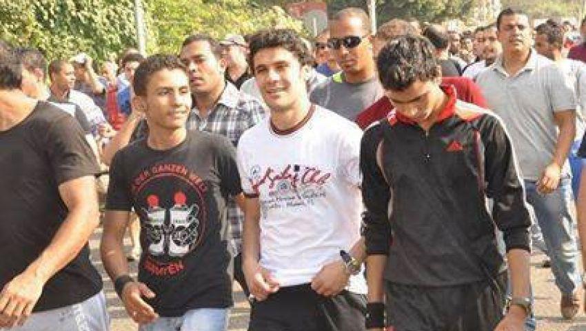 أحمد حسن وإكرامي في مظاهرات التحرير