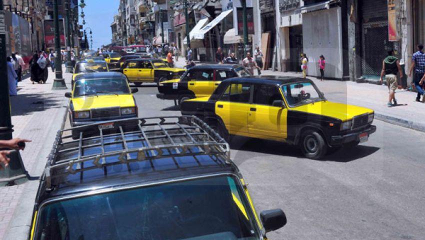 قطع شارع صفية زغلول بسبب الوقود