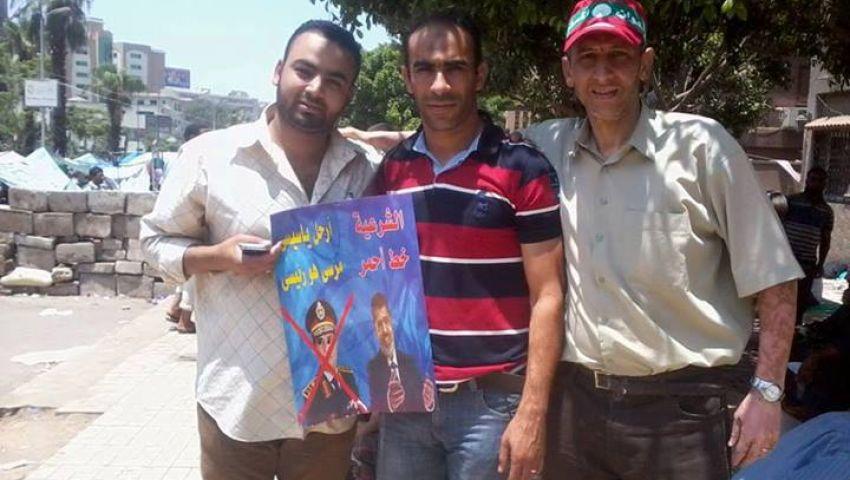 سيد عبدالحفيظ في مظاهرات رابعة