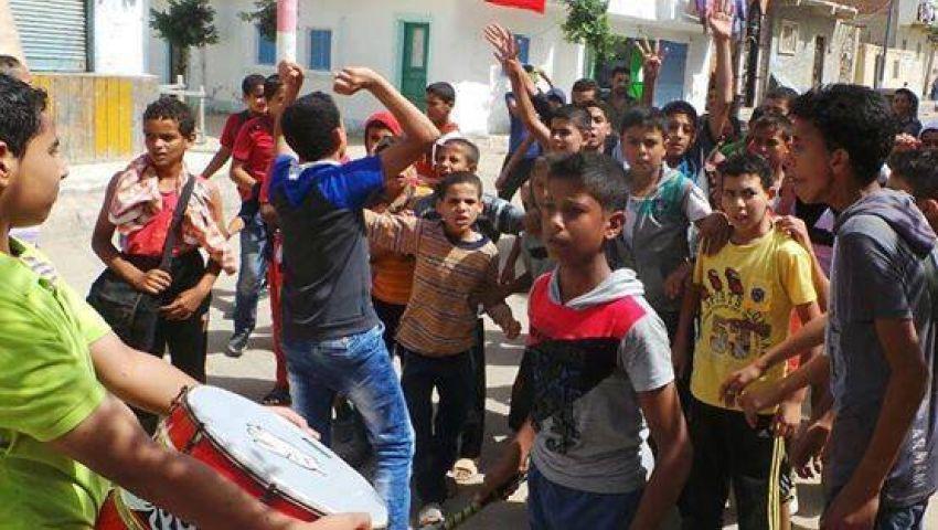 بالصور.. مسيرة بحوش عيسى تندد باعتقال الأطفال
