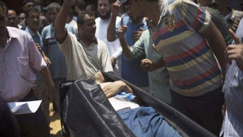 تشييع الضحية الثانية لأحداث الجمهوري ببني سويف