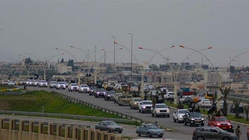 داعش ينظم استعراضا عسكريا بالموصل