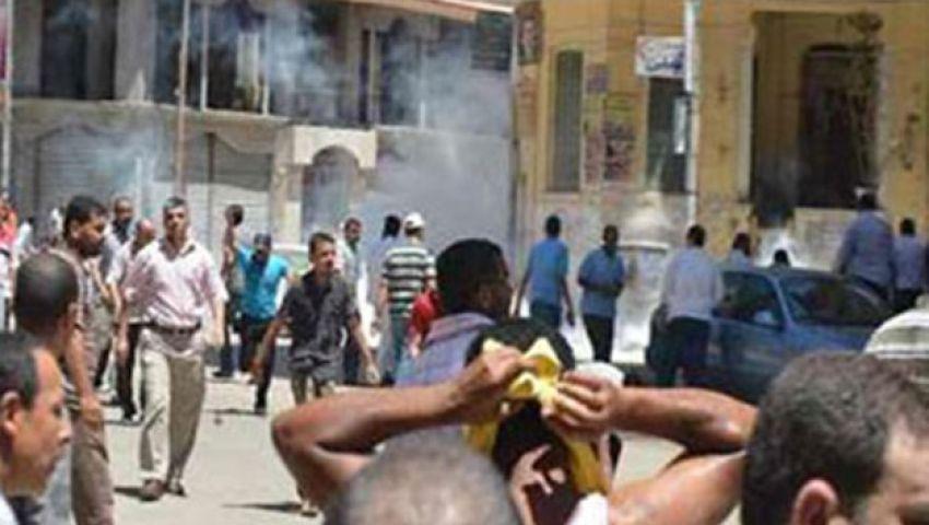 مؤيدو الانقلاب يسرقون معرضًا لأحد أعضاء الإخوان بمنيا القمح