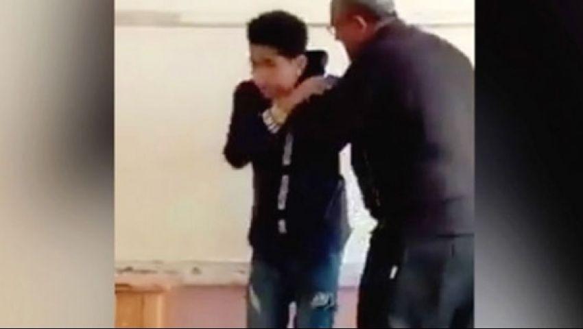 مدرس يعتدي بوحشية على طالب  بالإسكندرية وقرار عاجل من التعليم