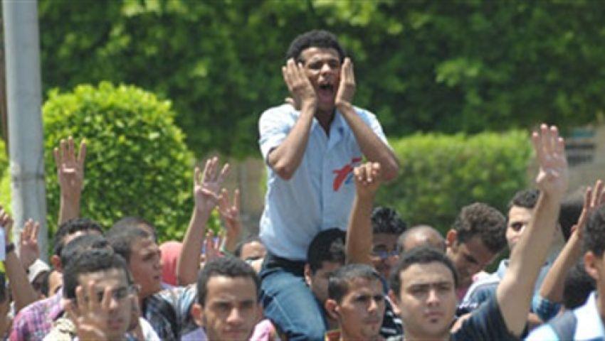تظاهرة لطلاب ضد الانقلاب بآداب دمياط