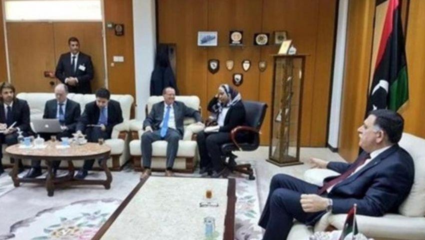المبعوث الأممي يلتقي السراج في العاصمة الليبية