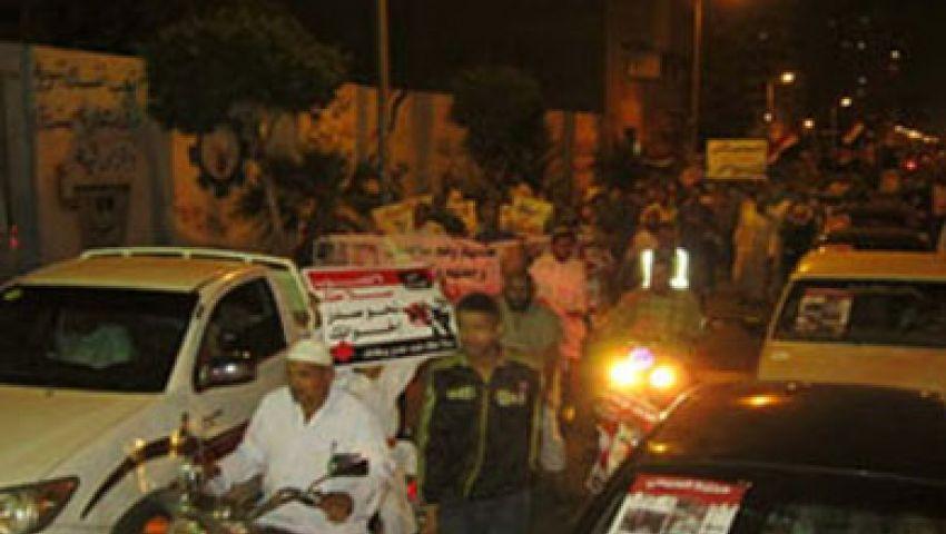 مسيرة بالسيارات تجوب شوارع أسوان رفضاً للانقلاب