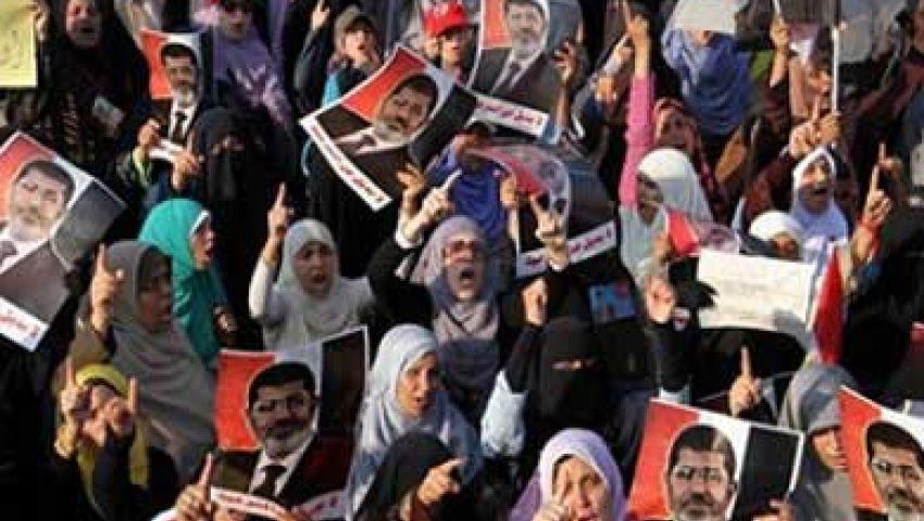 فيديو.. مسيرة نسائية بالمنصورة تنديدًا بـالانقلاب