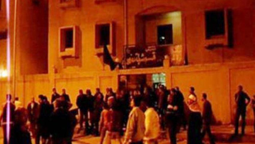 ضبط المتهم بحرق قسم أبوقرقاص