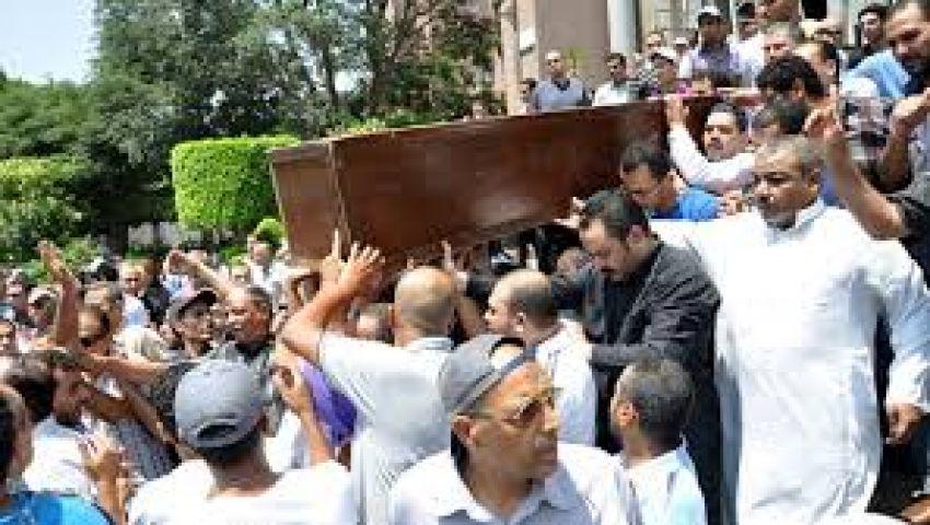 تشييع جنازة السكرتير السابق لـغد الثورة في الفيوم