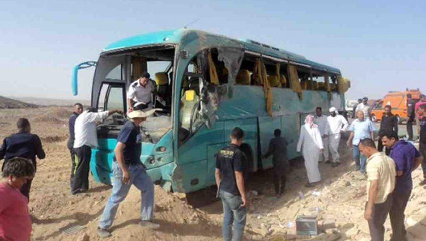 إصابة 36 شخصًا في انقلاب أتوبيس بالزعفرانة