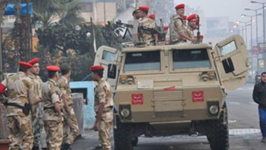 تواجد مكثف للجيش الثالث بالسويس قبيل المظاهرات
