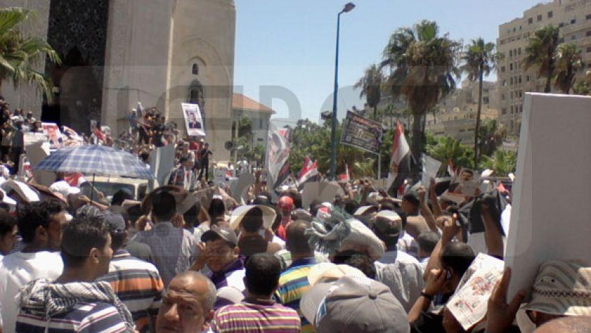 بالفيديو والصور.. آلاف من أنصار مرسي يحتشدون بالقائد إبراهيم