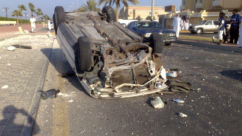 مصرع شخص وإصابة 8 في انقلاب سيارة بقنا