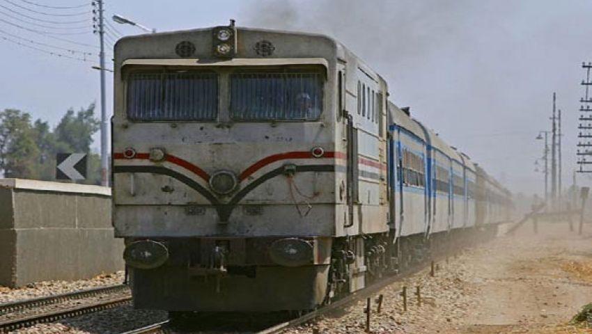 مصرع مُسن أسفل عجلات قطار أبو قير