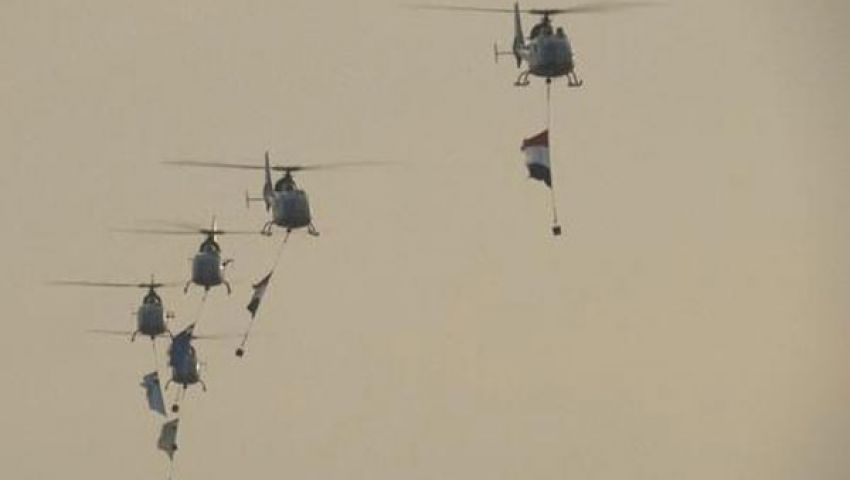 مروحيات تابعة للجيش تحلق في سماء التحرير
