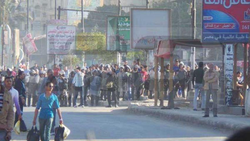 بالصور.. الأمن يغلق ميدان الأربعين أمام مؤيدي مرسي