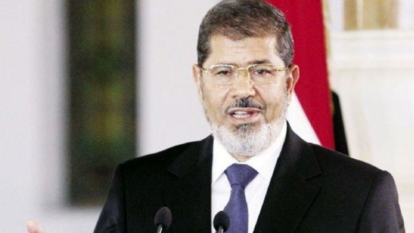 مرسي يلقي خطابه من قاعة المؤتمرات بمدينة نصر