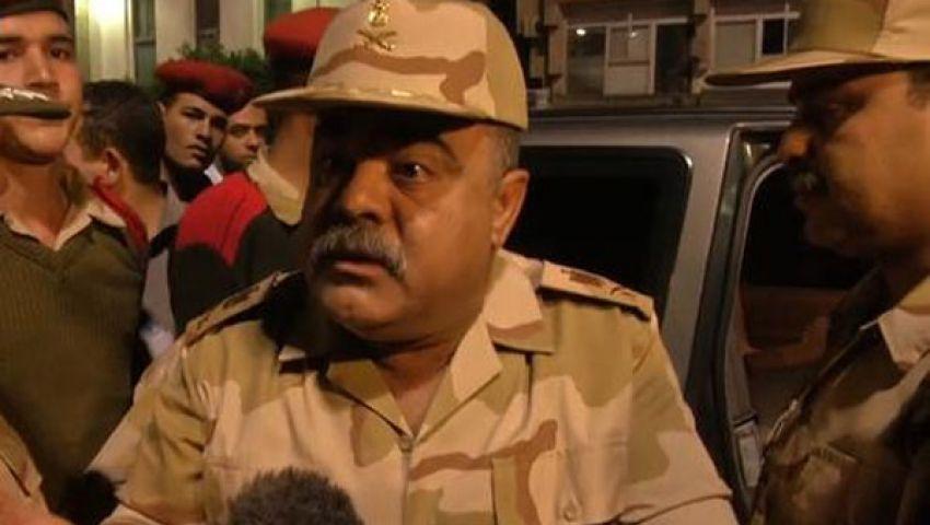 المتحدث العسكري: عناصر إرهابية تطلق النار على سيارة اللواء وصفي
