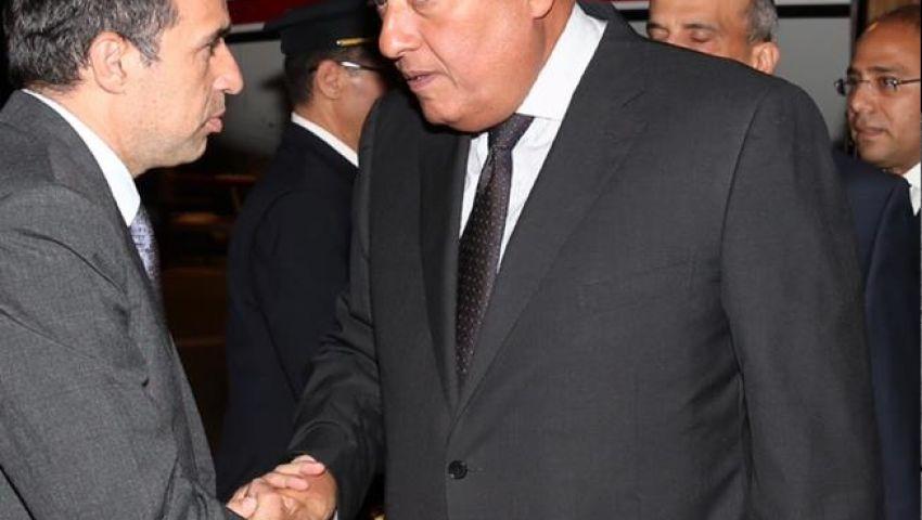 سامح شكرى يصل تل أبيب للمشاركة فى جنازة بيريز