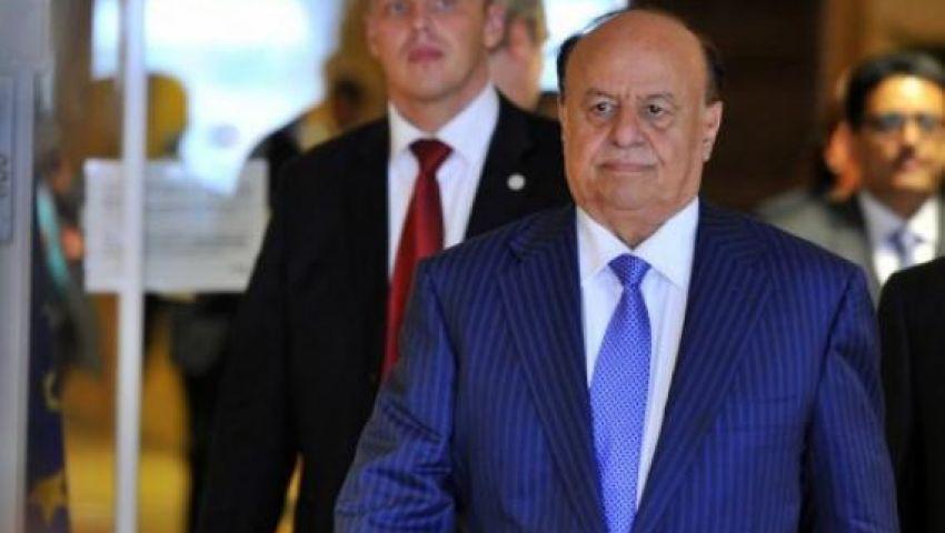 الرئيس اليمنى يغادر مصر على متن طائرة الملك سلمان