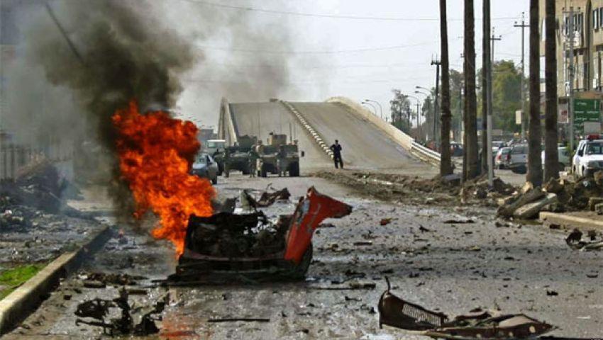 إصابة 14 مدنيا بانفجار سيارتين مفخختين  شمال العراق