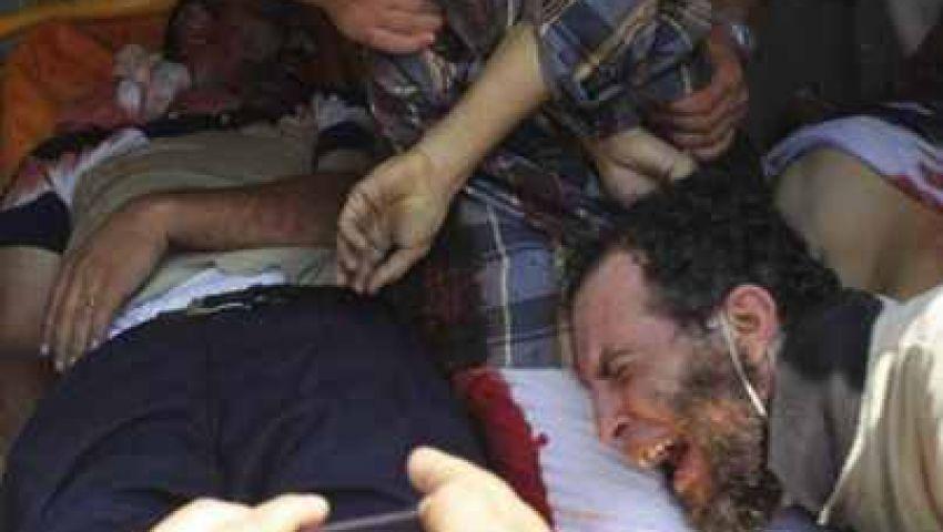 تشييع جثمان أحد ضحايا  أبو زعبل بالإسكندرية