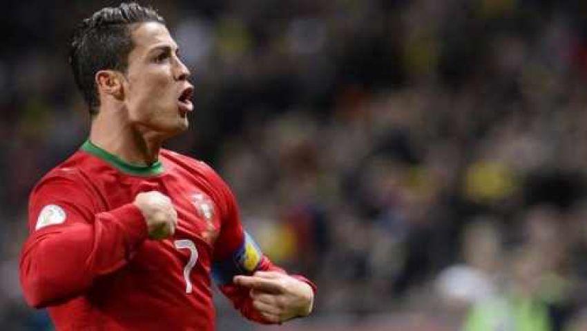 رونالدو رجل مباراة البرتغال والسويد
