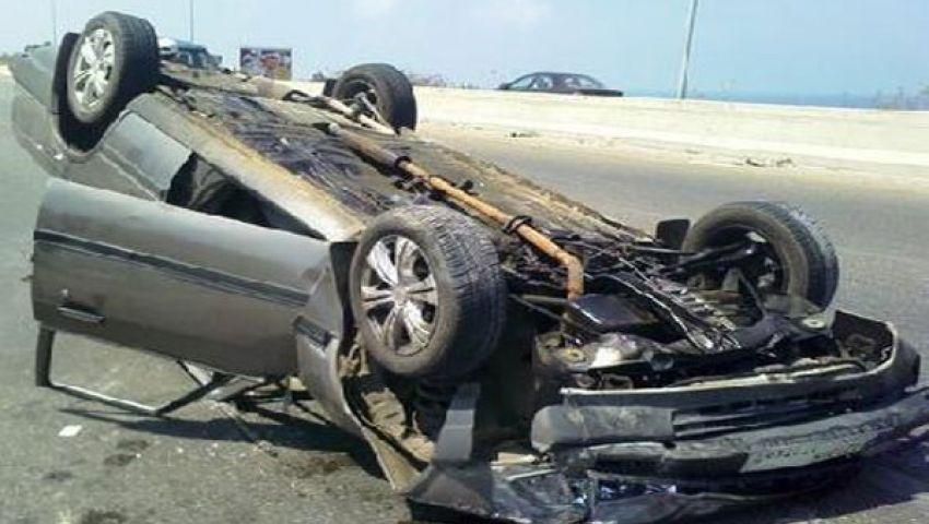 مصرع وإصابة 5أشخاص إثر انقلاب سيارة بالبحر الأحمر