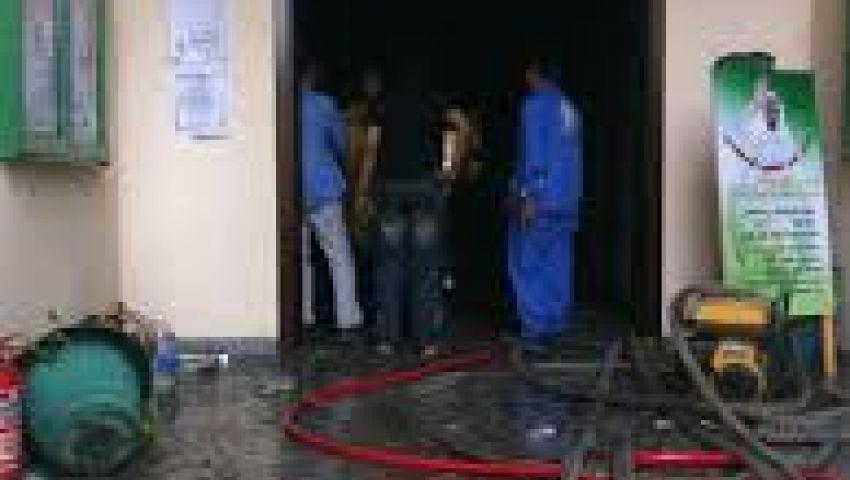 حريق بمبنى الإدارة التعليمية بساحل سليم بأسيوط