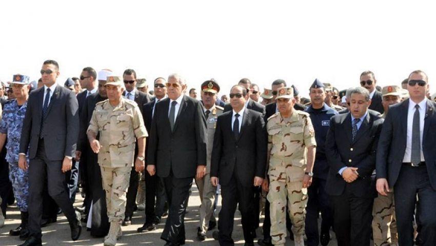 بالصورة والعبارات والحركة.. السيسي يرد بحسم على هجوم سيناء