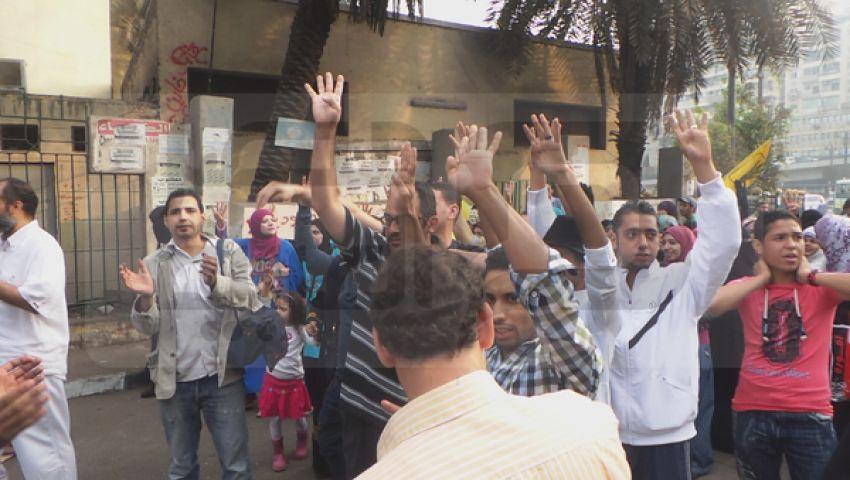 مسيرات أنصار مرسي تجوب ميادين الجيزة بالعيد