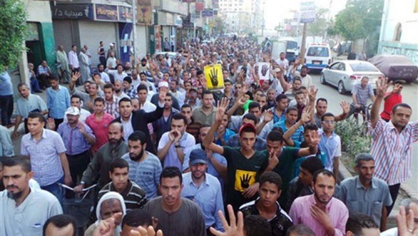 10 مسيرات ضمن فعاليات جمعة مذبحة القرن ببني سويف