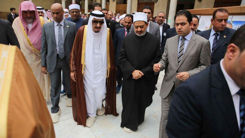 بالصور| العاهل السعودي فى الجامع الأزهر