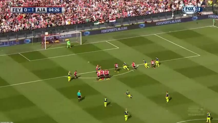 فيديو.. ريكاردو لاعب اياكس يحرز هدف رائع علي طريقة رونالدو