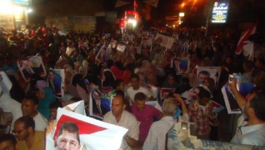 4 مسيرات ببني سويف دعمًا لمرسي