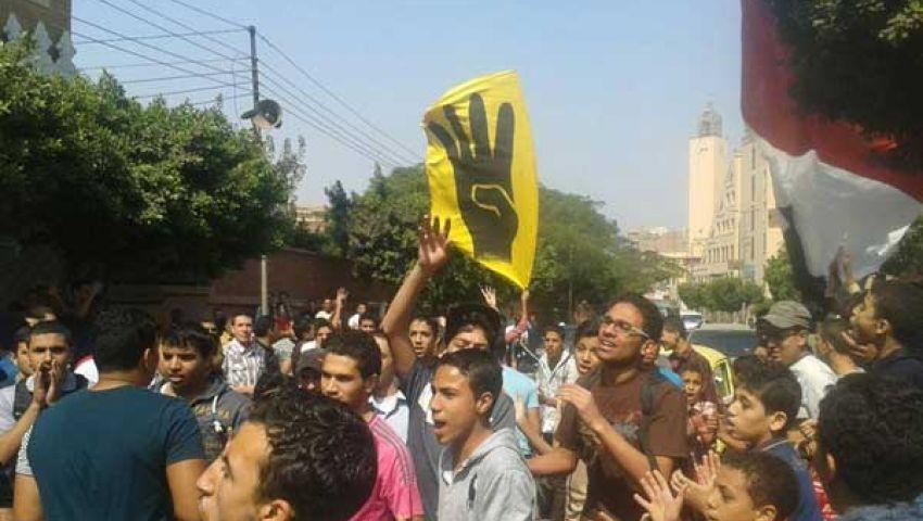 أمن المنوفية يلقي القبض على طالبين فى مسيرة لمؤيدي مرسي