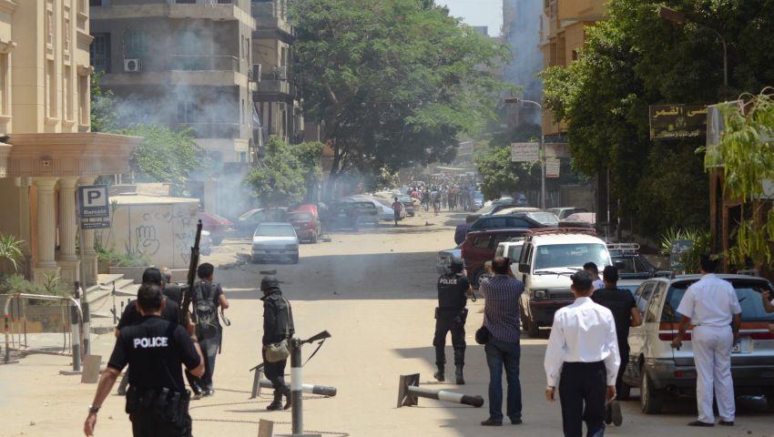 حرائق ومظاهرات وخرطوش حصيلة أسقطوا النظام بالهرم