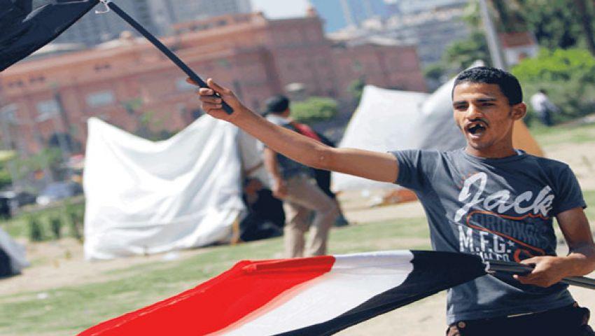 مسيرات بأعلام مصر في ميدان التحرير