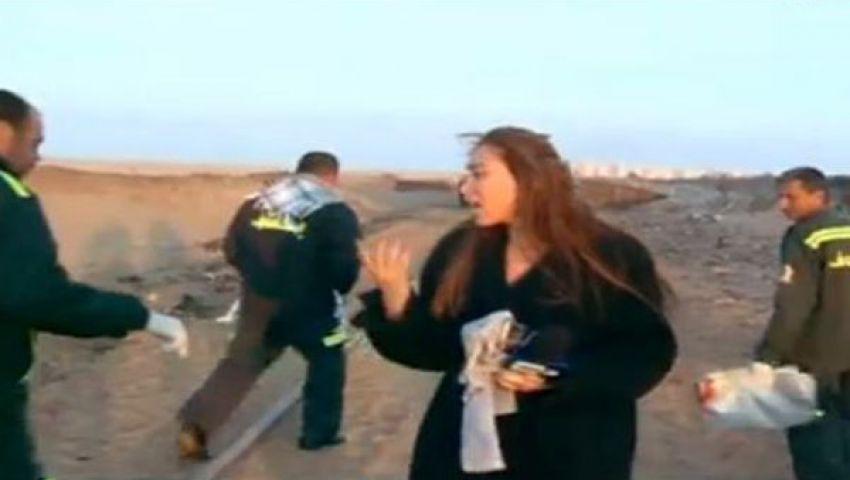 فيديو.. ريهام سعيد تنفعل على رجال الإسعاف بدهشور