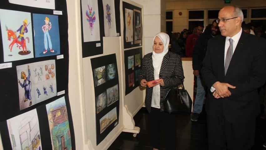 بالصور  اللاجئون الفلسطينيون يفتتحون ملتقى القاهرة للرسوم المتحركة