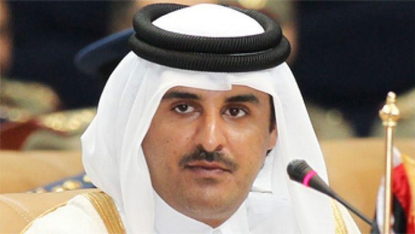 السيسي يستقبل أمير قطر بمطار شرم الشيخ