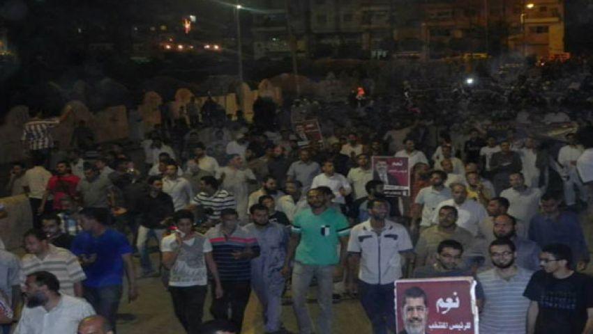 مسيرة حاشدة تجوب شوارع الفيوم دعماً لمرسي